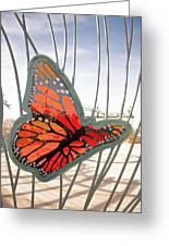 Big Glass Butterfly In Flight Greeting Card