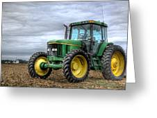 Big Green Tractor Greeting Card