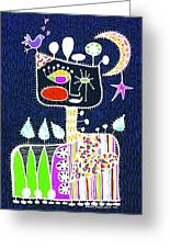 Big Hearted Blue Greeting Card