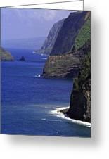 Big Island Cliffs  Greeting Card