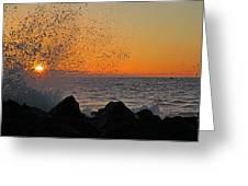 Big Island Hawaii Kona Sunset Greeting Card