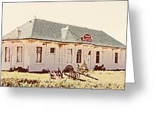 Big L Railroad Station Greeting Card