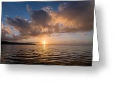 Big Lagoon Winter Evening Greeting Card