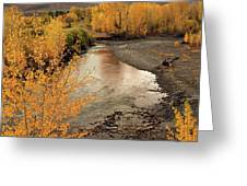 Big Lost River In Autumn Greeting Card