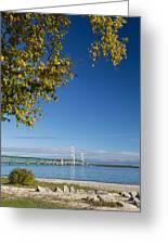 Big Mackinac Bridge 57 Greeting Card