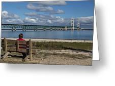 Big Mackinac Bridge 71 Greeting Card