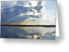 Big Marsh Sunset Greeting Card