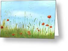 Big Orange Poppies Greeting Card by Cecilia Brendel