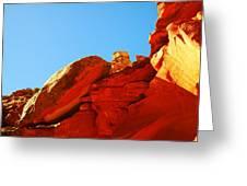 Big Orange Rock Greeting Card
