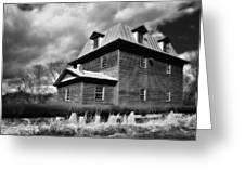 Big Otter Mill Ca 1785 Bw Greeting Card
