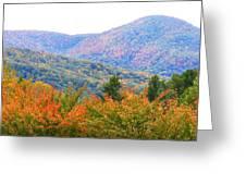 Big Pisgah Mountain In The Fall Greeting Card