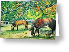 Big Red And Buck Greeting Card