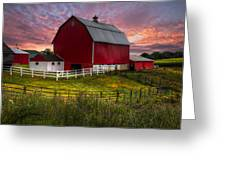 Big Red At Sunset Greeting Card
