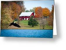 Big Red Barn Eagle Rocky Fork  Greeting Card