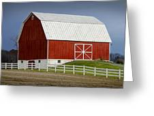Big Red Barn In West Michigan Greeting Card