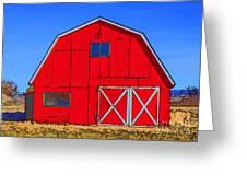 Big Red Barn Greeting Card
