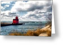 Big Red Big Wind Greeting Card