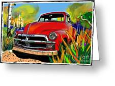 Big Red Chevy Greeting Card