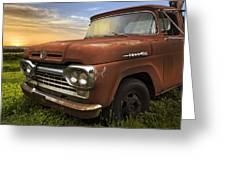 Big Red Ford Greeting Card