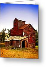 Big Red Grain Elevator Greeting Card