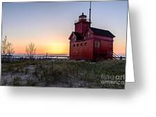 Big Red Lighthouse Greeting Card