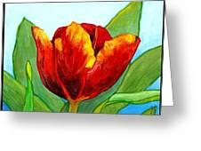 Big Red Tulip Greeting Card