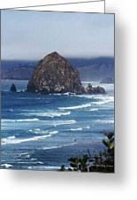 Big Rock On The Oregon Coast Greeting Card