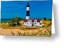 Big Sable Light On The Shore Greeting Card