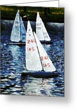 Big Sailors And Little Boats Greeting Card