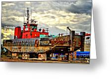 Big Ship Rising Greeting Card