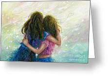 Big Sister Hug Greeting Card