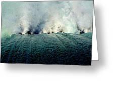 Big Splash Of Mammoth Springs Dam Greeting Card