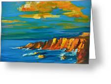Big Sur At The West Coast Of California Greeting Card by Patricia Awapara