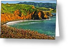 Big Sur California Coastline Greeting Card
