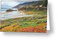Big Sur California In Autumn Greeting Card by Pierre Leclerc Photography
