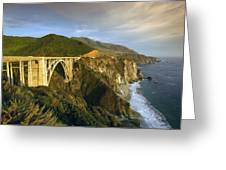 Big Sur Greeting Card by Christian Heeb