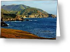 Big Sur Coastline Greeting Card by Benjamin Yeager