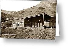 Big Sur Hot Springs Now The Esalen Institute California Circa 1961 Greeting Card