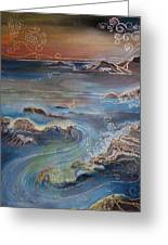 Big Sur In Sunset Greeting Card
