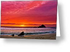 Big Sur Sunset Pfeiffer Beach Greeting Card