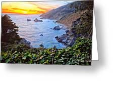 Big Sur Sunset Greeting Card