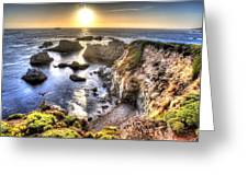 Big Sur Sunset Greeting Card by Shawn Everhart