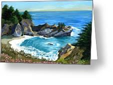 Big Sur Waterfall Greeting Card