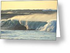 Big Surf At Sunset Greeting Card