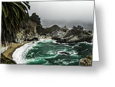 Big Sur's Emerald Oaza Greeting Card
