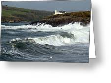 Big Swell In Dingle Bay Greeting Card