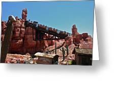 Big Thunder Mountain Walt Disney World Greeting Card