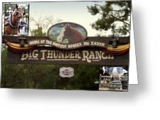Big Thunder Ranch Signage Frontierland Disneyland Greeting Card