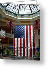 Big Usa Flag 1 Greeting Card