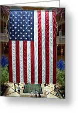 Big Usa Flag 2 Greeting Card